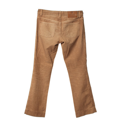Gucci Pantaloni di velluto a coste beige
