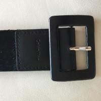 Calvin Klein Wide belt 'Felloptik' black