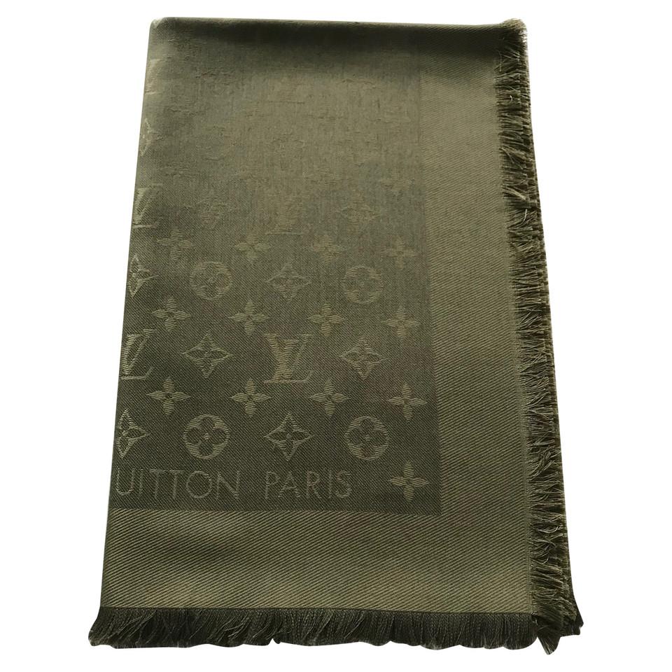 louis vuitton monogram schal in khaki second hand louis. Black Bedroom Furniture Sets. Home Design Ideas