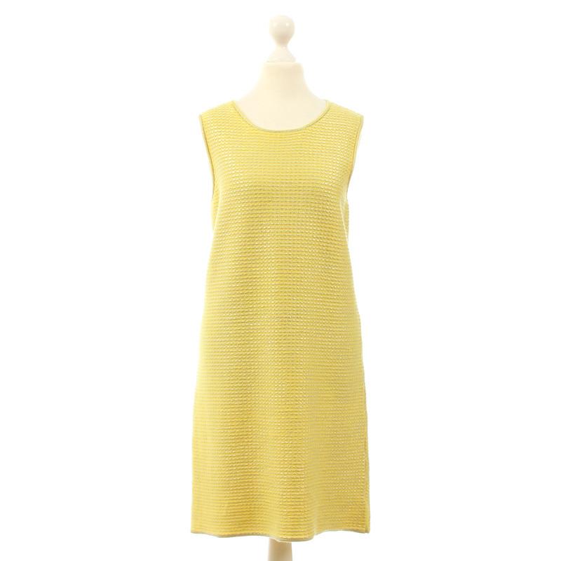 B Private Vestito giallo in cashmere e seta