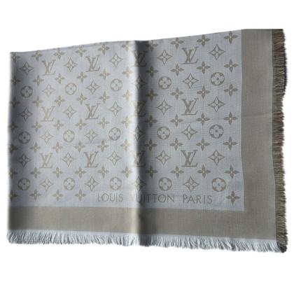 Louis Vuitton Monogram shine towel in white