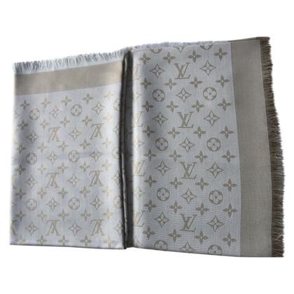 Louis Vuitton Monogram glans handdoek in wit