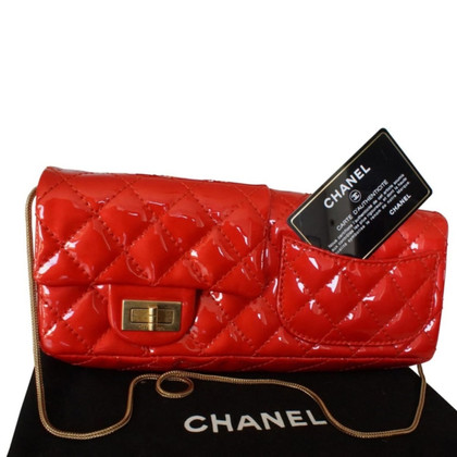Chanel Flap Bag in red patent leather