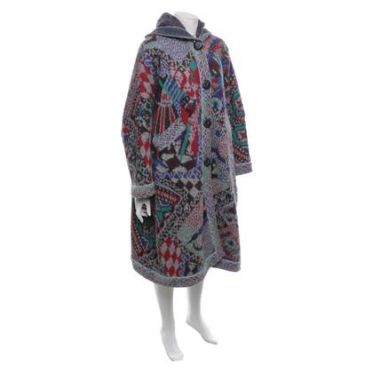 Missoni Cappotto lavorato a maglia con motivo