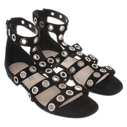 Prada sandali in camoscio