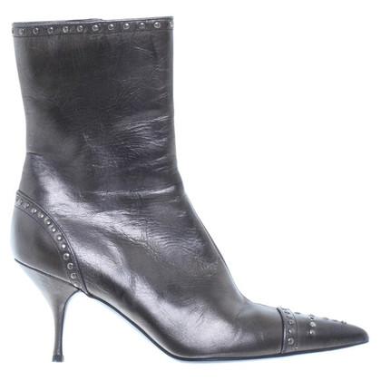 Prada Metallic ankle boots