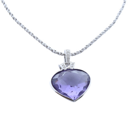 Swarovski Necklace with heart pendant