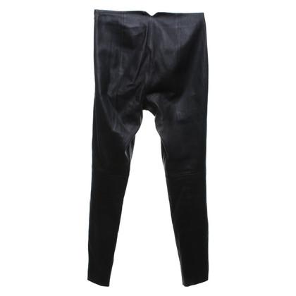 Hugo Boss Pantalon étroit en cuir