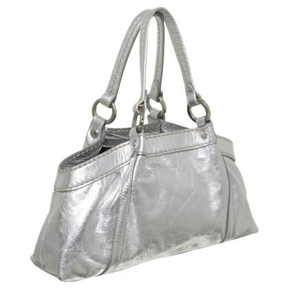 Hogan Silberfarbene Handtasche