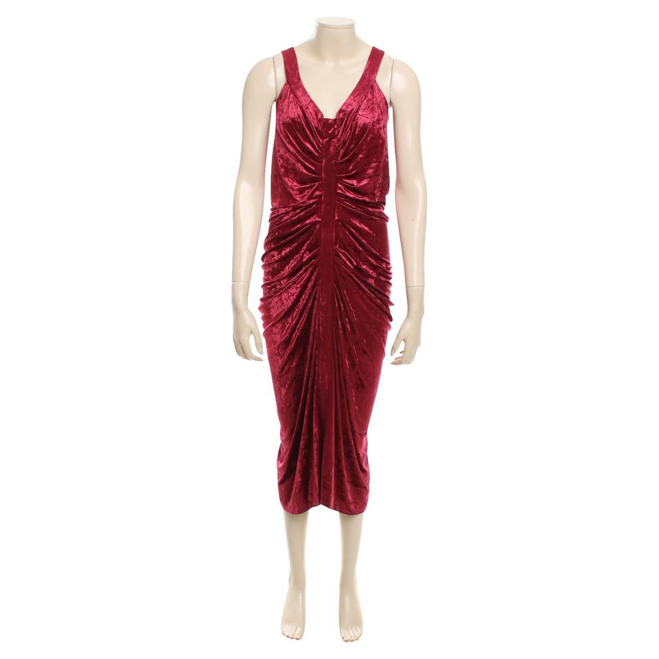 john galliano robe en velours rouge acheter john. Black Bedroom Furniture Sets. Home Design Ideas