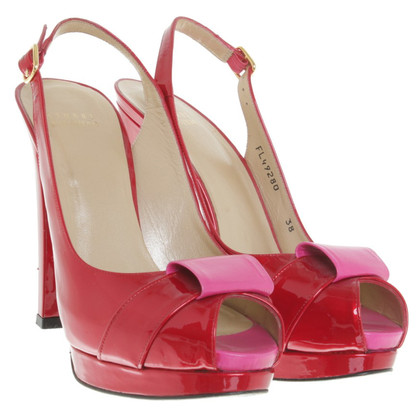 Stuart Weitzman Peeptoes made of patent leather