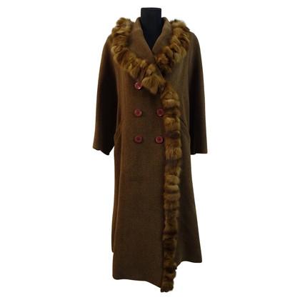 Fendi Vintage jas met bont