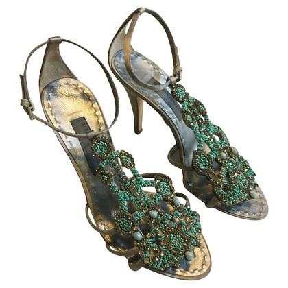 Alberta Ferretti jewel sandals