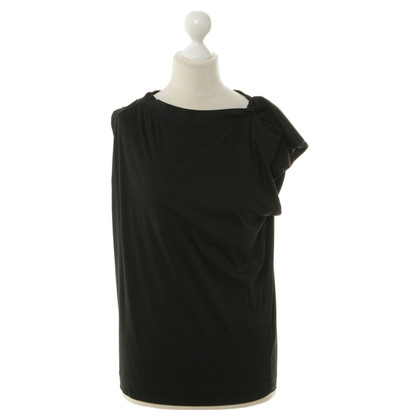 Jil Sander Top in jersey nero