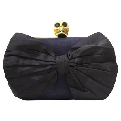 Alexander McQueen Schedel clutch zak Bow
