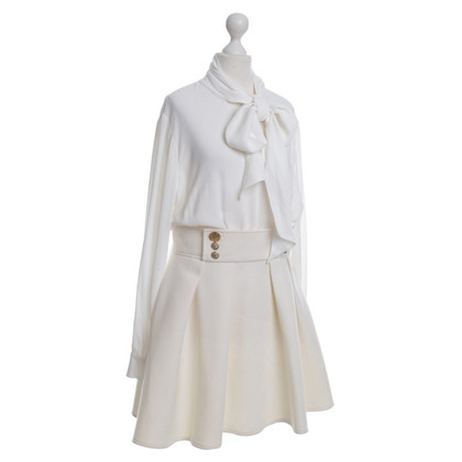 Elisabetta Franchi Kleid in Cremeweiß