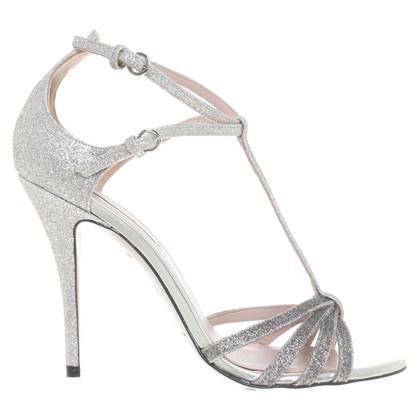 Pura Lopez Sandalen met glitters