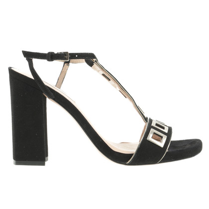 Pura Lopez Sandals with rectangular eyelets