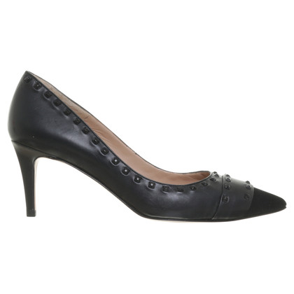 Pura Lopez pumps in zwart met klinknagels