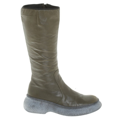 Pollini Boots in olive green