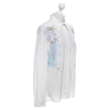 Versace Seidenbluse mit Print