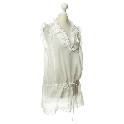 Marc Cain Transparent blouse in white
