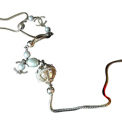Chanel Kette mit Perlen