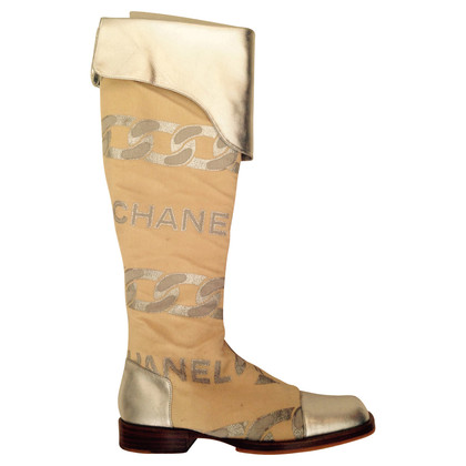 Chanel Thigh high boots