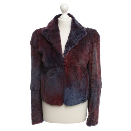 Versace Fur Jacket in Purple