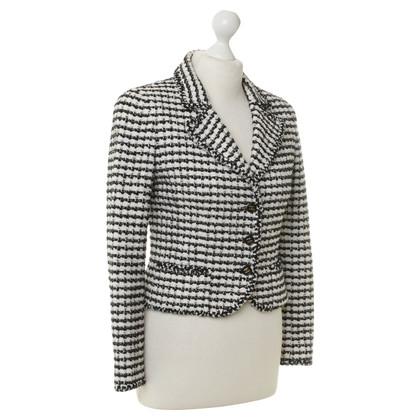 Tweedjacke in Schwarz-Weiß