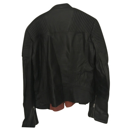 Closed Bikerlederjacke in Schwarz
