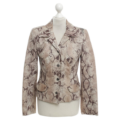 Marc Cain Leather jacket in python look