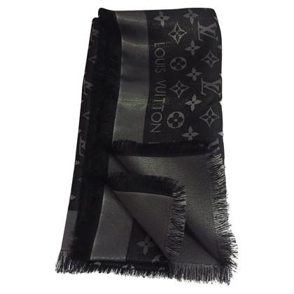 Louis Vuitton Monogram shine cloth in black / silver
