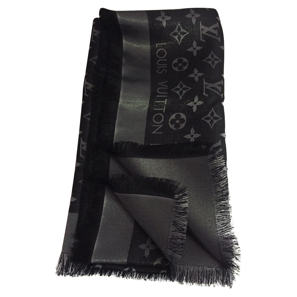 Louis Vuitton Monogram shine cloth in black / silver