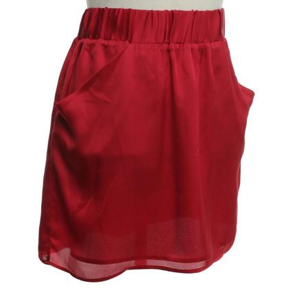 Michael Kors gonna di seta in rosso