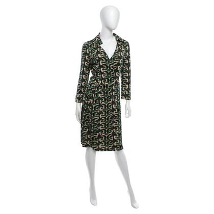 Diane von Furstenberg Wrap dress with graphic pattern