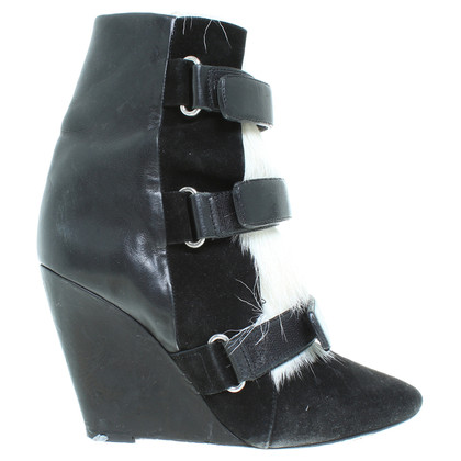 Isabel Marant Ankle Boots mit Fell