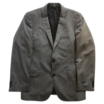 Hugo Boss Grey wool single-breasted man jacket