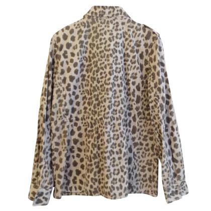 Velvet Giacca con motivo leopardo