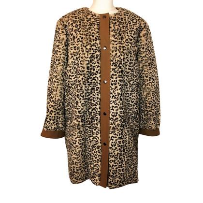 Vanessa Bruno Lapin manteau de fourrure avec imprimé