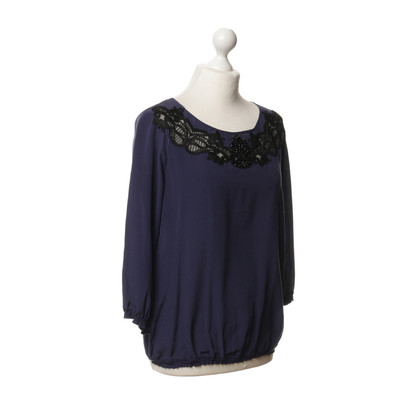 Pinko Silk top with lace