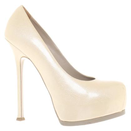 Yves Saint Laurent pumps in cream-white