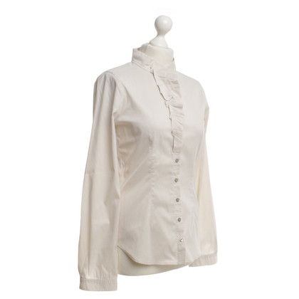 René Lezard Blouse in beige