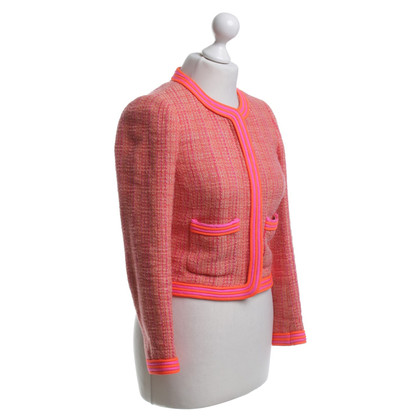 J. Crew Bouclé blazer in neon colors