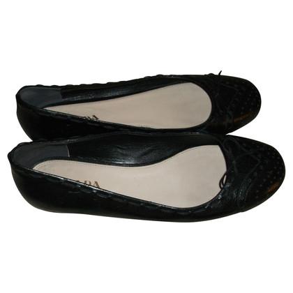 Prada Prada Leather Flats