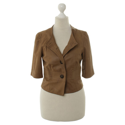 René Lezard Leather bolero jacket