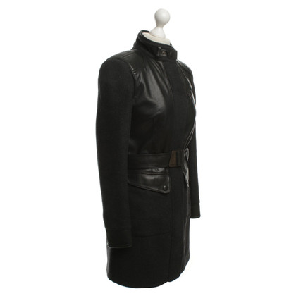 Andere Marke Matchless -  Mantel mit Lederelementen
