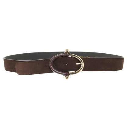 Coccinelle Suede belt in brown