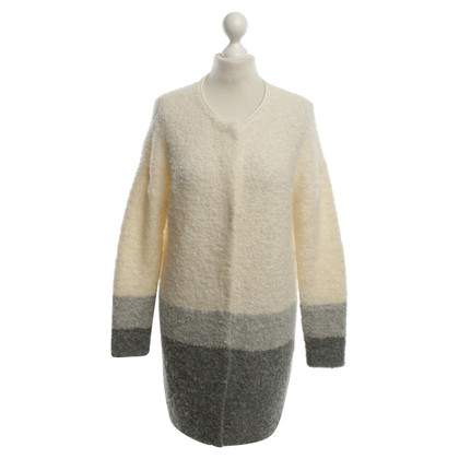 Marc Cain Cardigan in Gray / White