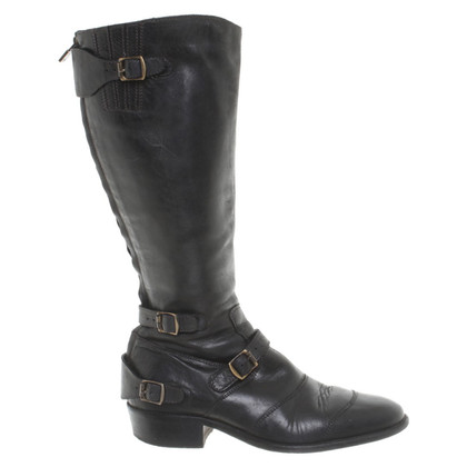 Belstaff Black leather boot